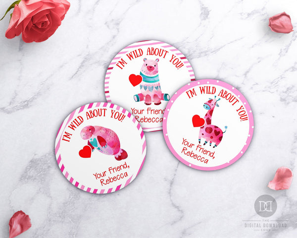 Valentine's Day Labels Printable- Wild About You