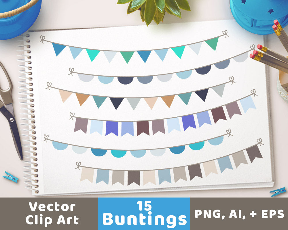 Winter Bunting Clipart