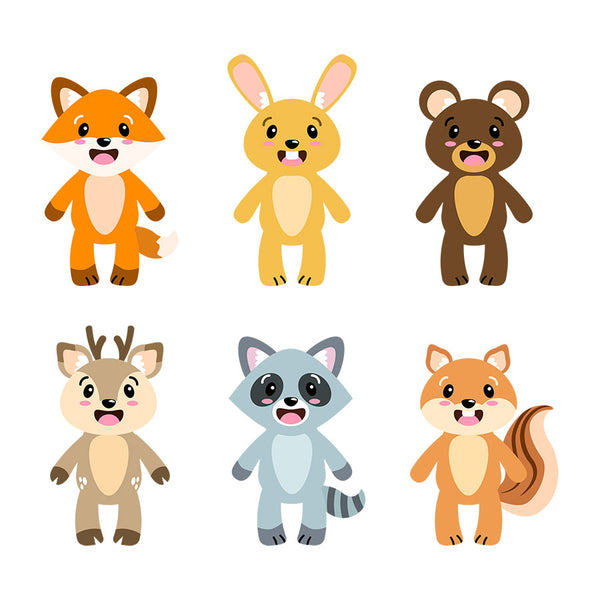 Woodland Animals Clipart- The Digital Download Shop