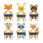 School Animals Clipart- The Digital Download Shop