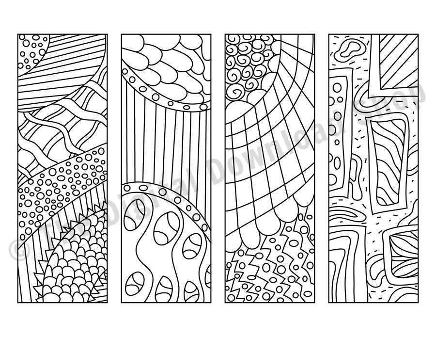 Zendoodle Coloring Page Bookmark Printables | The Digital ...