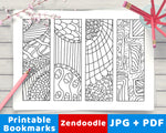 Zendoodle Coloring Page Bookmark Printables