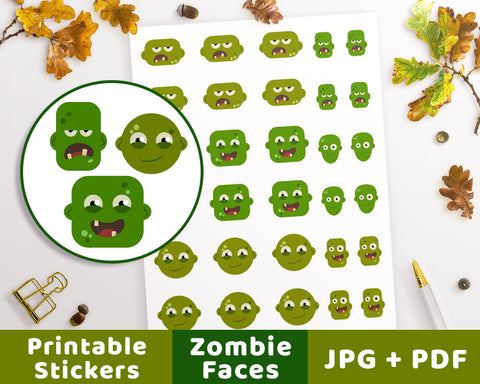 Zombie Halloween Planner Stickers - The Digital Download Shop