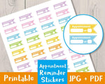 Appointment Reminder Printable Planner Stickers - The Digital Download Shop