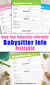 Babysitter Info Sheet Printable- This handy babysitter notes printable can help reduce your stress by creating a single sheet full of all the information your babysitter could possible need! | printables for moms, printables for parents, childcare, #babysitter #printable #DigitalDownloadShop