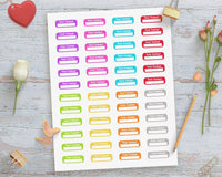 Blank Test Today Printable Planner Stickers - The Digital Download Shop