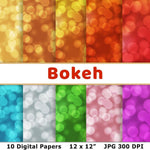 Bokeh Digital Paper - The Digital Download Shop