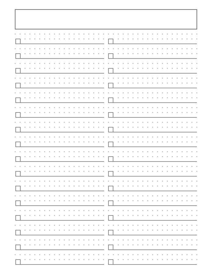 It is a picture of Mesmerizing Bullet Journal Printable
