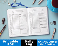 Bullet Journal Daily Template Printable - The Digital Download Shop