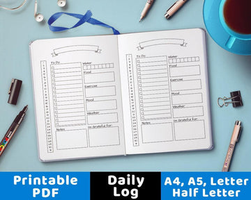 Bullet Journal Daily Template Printable