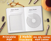 Bullet Journal Habit Trackers Printable - The Digital Download Shop