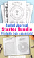 Printable bullet journal insert bundle- Bujo trackers and logs to help you organize, plan, and record your life! Whether you're new to bullet journaling, or just want a bunch of fun new inserts to use, this bullet journal starter pack has everything you need! | #bulletJournal #planner #DigitalDownloadShop