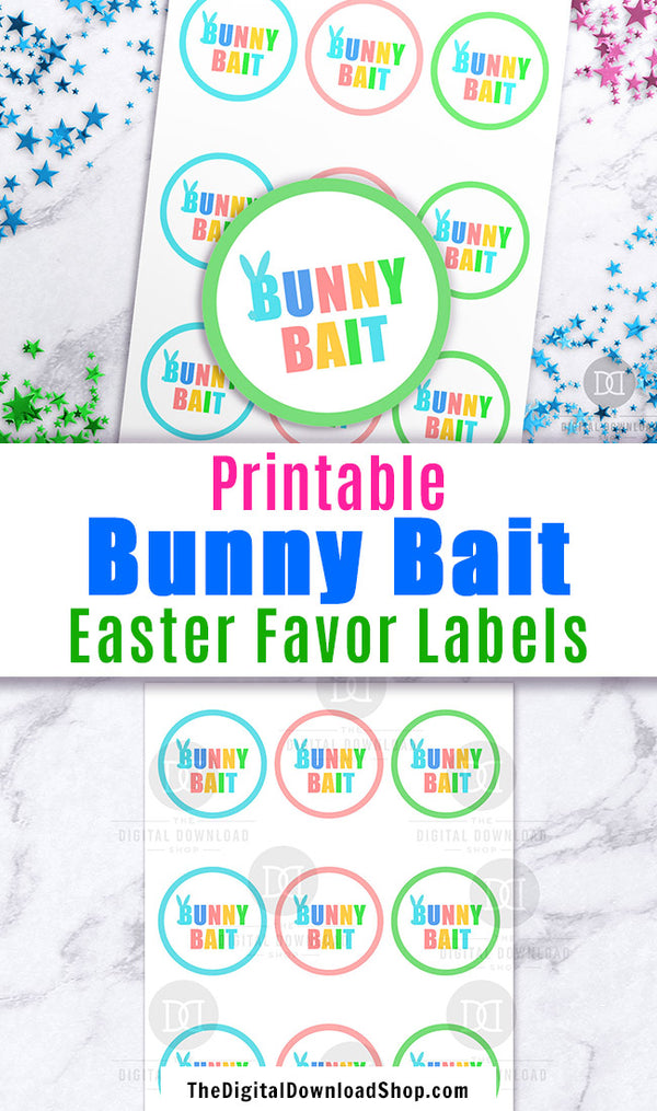 Bunny Bait Labels Printable