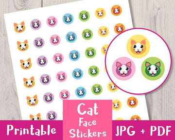 Cat / Kitten Printable Planner Stickers