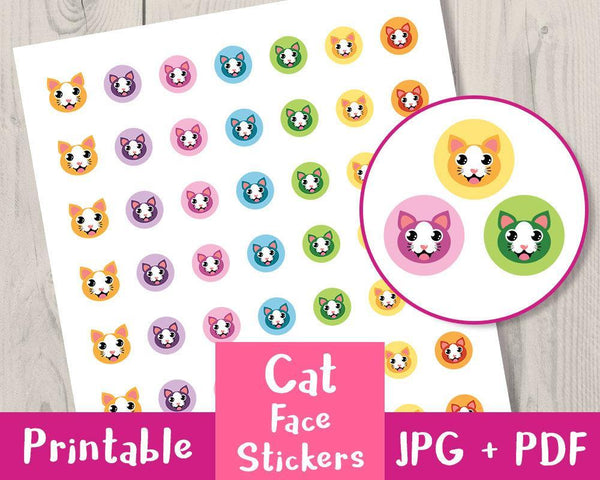 Cat / Kitten Printable Planner Stickers - The Digital Download Shop