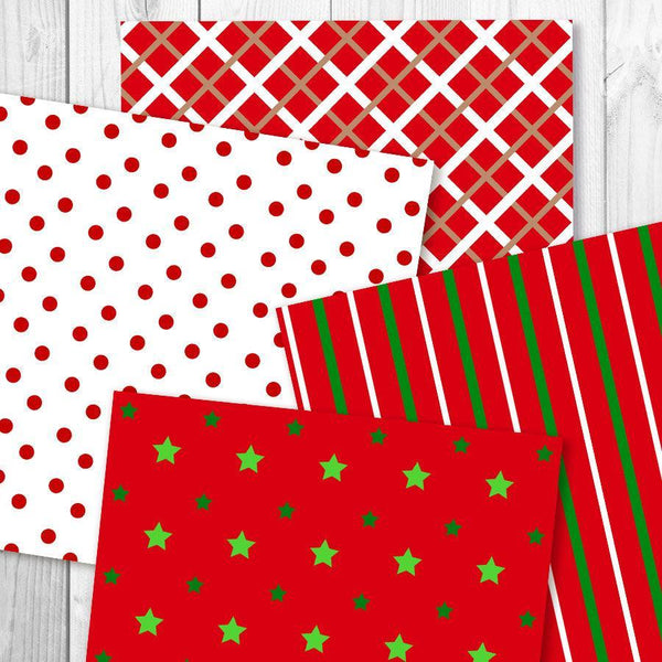Christmas Digital Papers - The Digital Download Shop