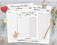 Cleaning Checklist Printable - The Digital Download Shop