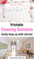 Cleaning Schedule Printable- It's so much easier to keep on top of chores if you have a schedule! And this weekly cleaning schedule template is so pretty and easy to use! | chore chart for adults, home cleaning schedule, #cleaningSchedule #homemaking #cleaning #choreChart #DigitalDownloadShop