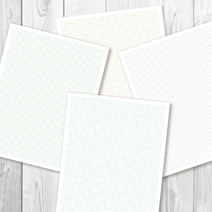 It's just a picture of Effortless Dot Grid Printable