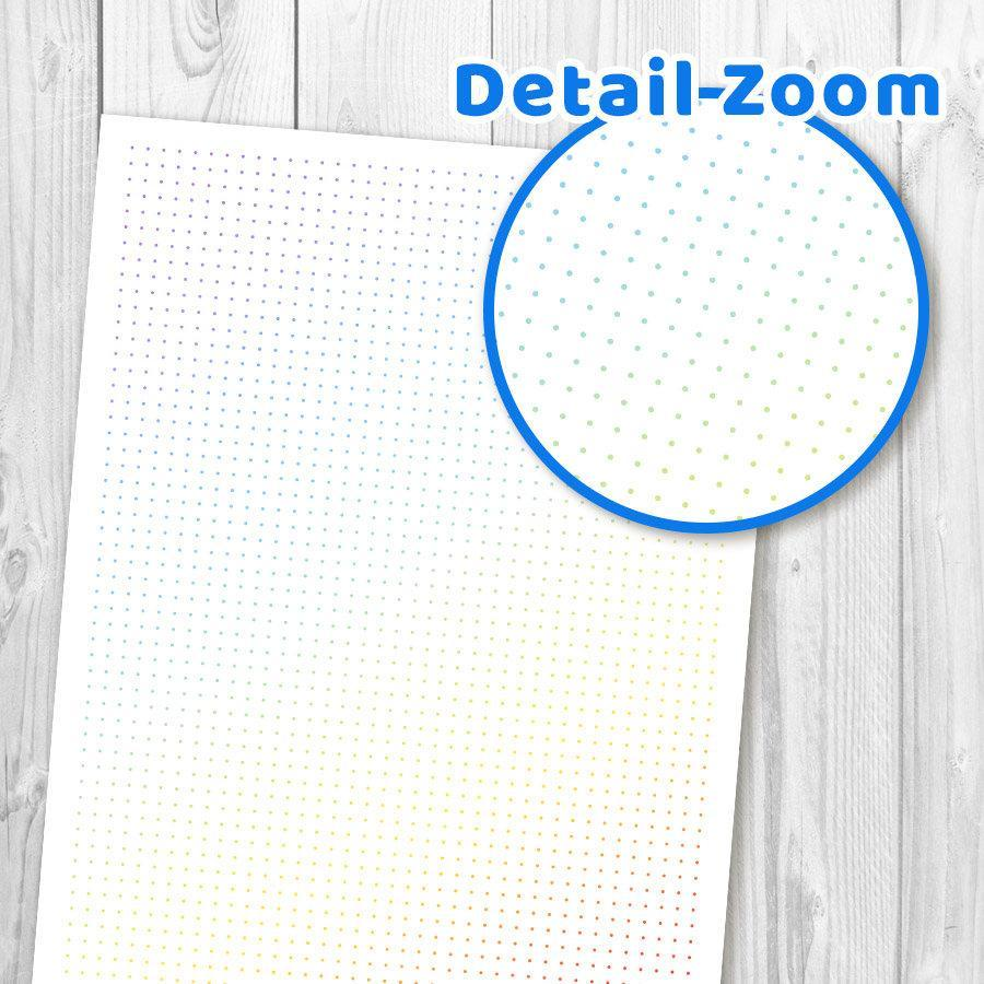 photograph about Printable Dot Grid known as Coloured Dot Grid Bullet Magazine Printable