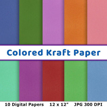 Colored Kraft Digital Paper