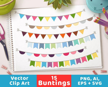 Colorful Bunting Clipart