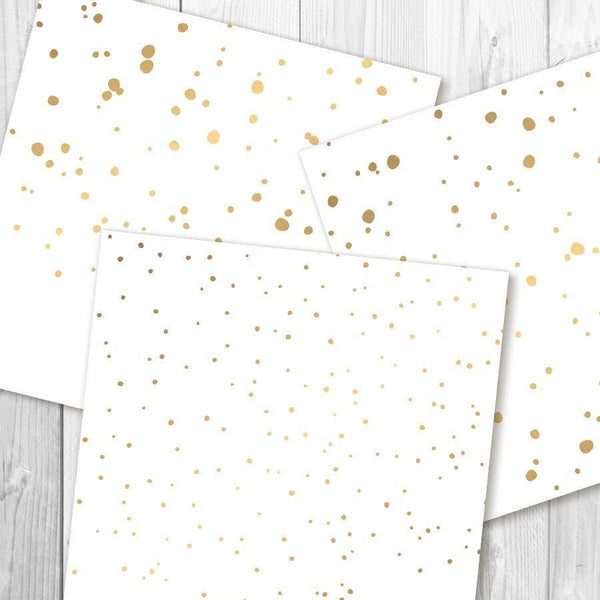 Confetti Gold Digital Papers - The Digital Download Shop