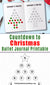 Bullet Journal Christmas Countdown Printable- Use this bullet journal Christmas advent calendar printable for a fun, colorful way to countdown to Christmas! | bujo Christmas countdown, days til Christmas, days until Christmas, Christmas planner insert, journal insert, #Christmas #bulletJournal #DigitalDownloadShop