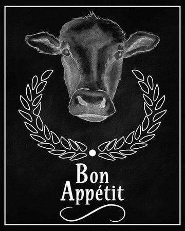 Cow Bon Appetit Sign Printable Wall Art