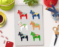 Dala Horse Clipart - The Digital Download Shop