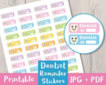 Dentist Printable Planner Stickers - The Digital Download Shop