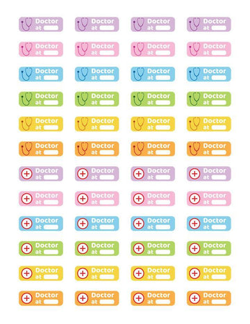 Doctor Reminder Printable Planner Stickers