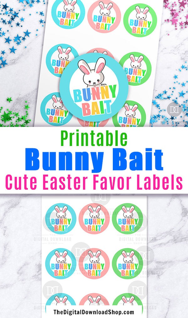 Easter Bunny Bait Stickers Printable