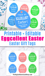 Eggcellent Easter Tag Printable
