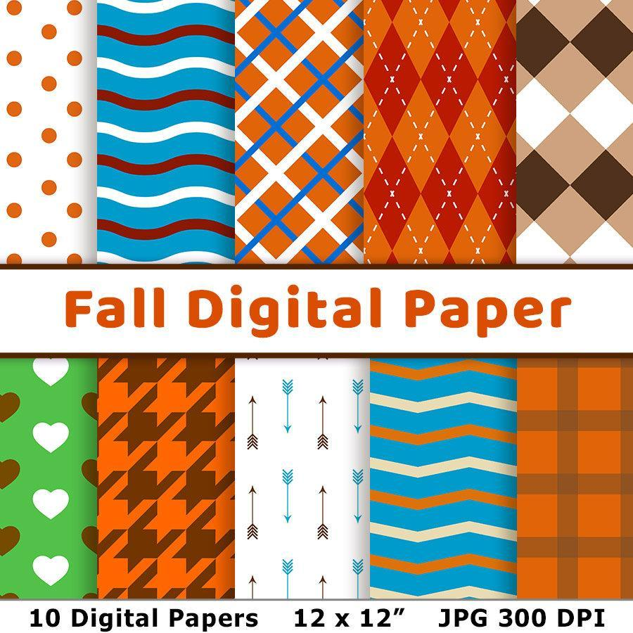 Fall Digital Paper - The Digital Download Shop