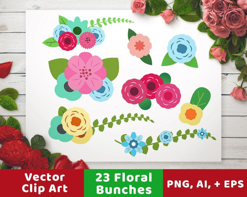 Floral Wedding Clipart- Arrangements - The Digital Download Shop