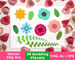 Floral Wedding Clipart - The Digital Download Shop