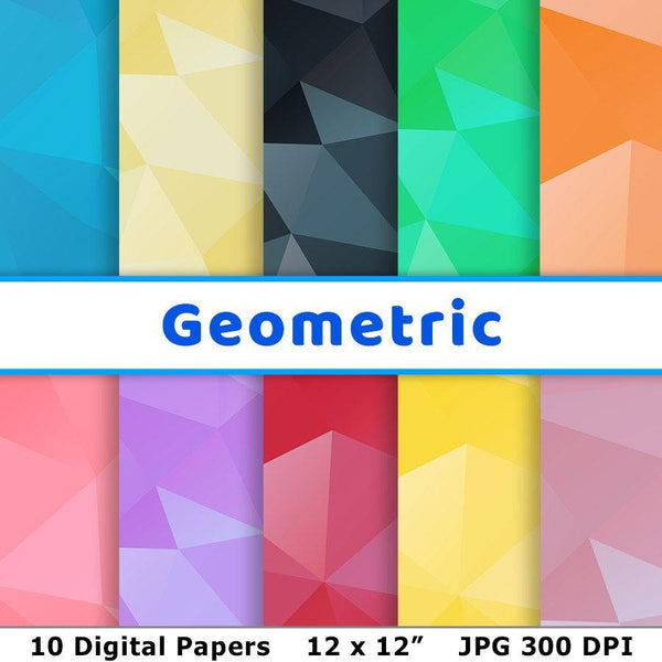 Geometric Digital Paper - The Digital Download Shop