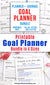 Goal planner printables bundle made up of 4 goal worksheet printables! Use these handy goal setting/goal tracking printables to help yourself plan out your goals and stay on track as you work toward completing them! | #planner #goals #goalSetting #DigitalDownloadShop