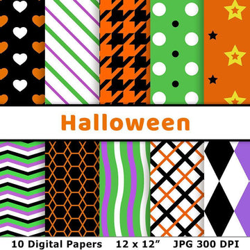 Halloween Digital Paper Set 1