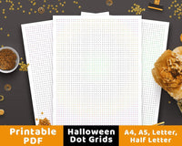 Halloween Dot Grid Bullet Journal Printable - The Digital Download Shop