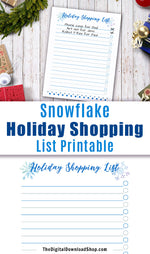 Holiday Shopping List Printable-