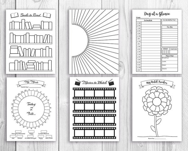 Create the best bullet journal ever with this whole shop bujo bundle from the Digital Download Shop- with free updates!