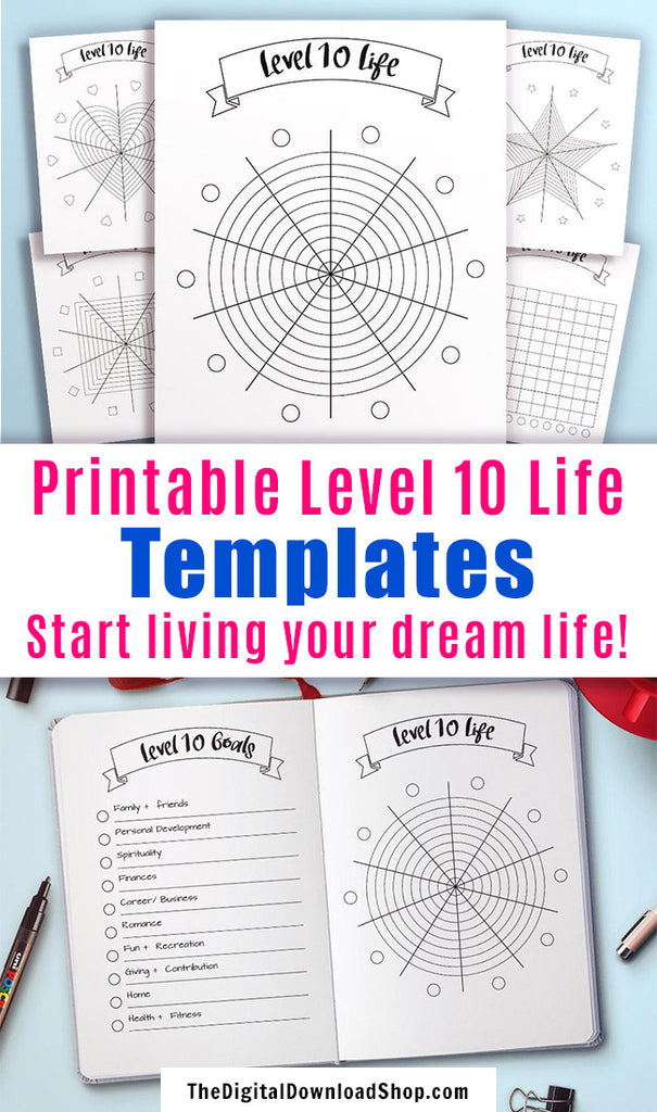 It is a picture of Exhilarating Level 10 Life Printable