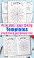 Printable Level 10 Life templates in 5 different shapes, plus 3 goal info pages. Use these printable Level 10 Life templates to easily achieve your goals and live your best life! | bullet journal inserts, printable planner inserts, #level10Life #planner #DigitalDownloadShop