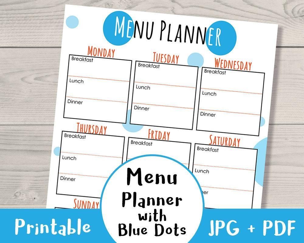 Meal Planner Printable - The Digital Download Shop