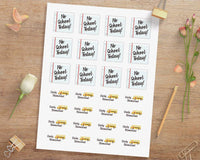 No School + Early Dismissal Printable Planner Stickers - The Digital Download Shop