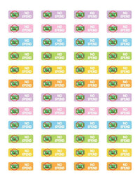 No Spend Reminder Printable Planner Stickers - The Digital Download Shop