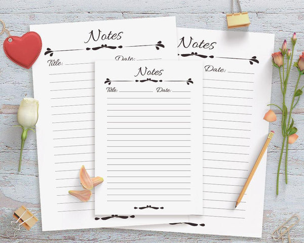 Notes Page Printable - The Digital Download Shop