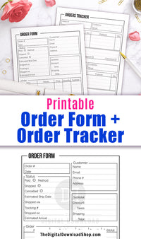 Use these printable order form templates to keep track of your orders and their current statuses.